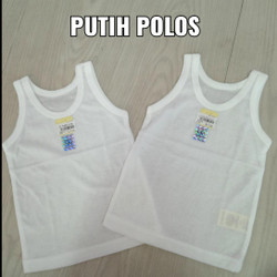 Nary Singlet Anak & bayi putih polos