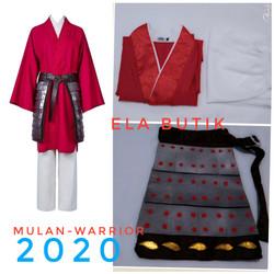kostum mulan-merah-dewasa-hanfu-kostum halloween-party costume