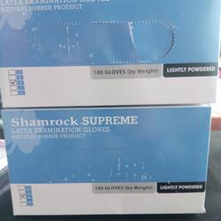 latex examination shamrock no powder size M