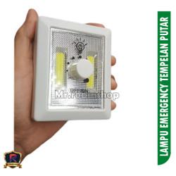 Lampu Tempel Emergency puteran Switch Light COB LED 3 Watt DIMMER