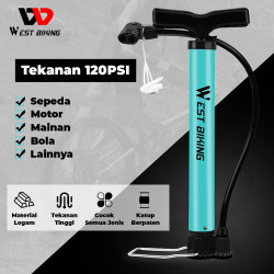 Pompa Sepeda 120 psi Bike Air Pump Alluminuim West Biking B4405