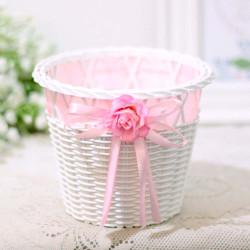 pot bunga artificial plastik palsu keranjang shabby chic korea