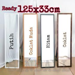 standing mirror / cermin berdiri / kaca berdiri premium fiber - Hitam