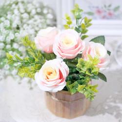 bunga plastik MAWAR ilalang tanaman artificial hias KAYU BULAT A1-1