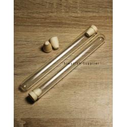 Tabung Reaksi Kaca 25ml Tutup Kayu Gabus Test Tube / Craft / DIY