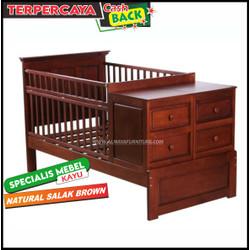 Box bayi kayu laci murah, ranjang bayi minimalis modern