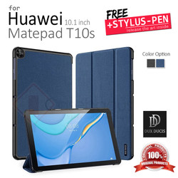 Huawei Matepad T10S 10.1 Inch - Dux Ducis Domo Leather Flip Case Cover