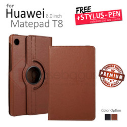 Huawei Matepad T8 8 8.0 Inch 2020 - Rotating Leather Flip Case Cover