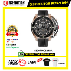 JAM TANGAN PRIA EXPEDITION E3009 E 3009 MC Black RoseGold ORIGINAL