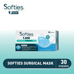 Softies Surgical Mask Earloop 3 ply Masker Medis 50 pcs
