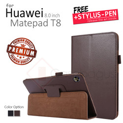 Huawei Matepad T8 8 8.0 Inch 2020 - Premium Leather Flip Case Cover