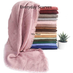 EVERYDAY SCARVES | PASHMINA POLOS WRINKLE CRINKLE | SCARF SYAL SHAWL
