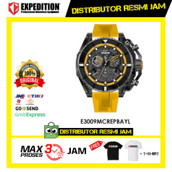 JAM TANGAN PRIA EXPEDITION E3009 E 3009 MC YELLOW RUBBER ORIGINAL