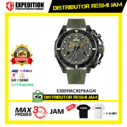 JAM TANGAN PRIA EXPEDITION E3009 E 3009 MC Green RUBBER ORIGINAL