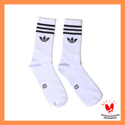 Kaos Kaki Panjang Pria Motif Adidas Putih Polos Kaos Kaki Casual Socks