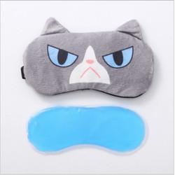 Tutup mata / Penutup Mata untuk tidur Eye Mask Kartun dengan Ice Gel - Grumpy cat
