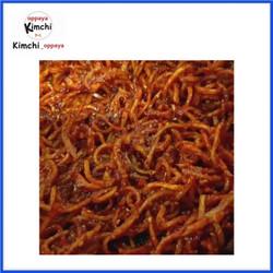 Halal kimchi cumi kering 100 gram dibuat chef asli korea.