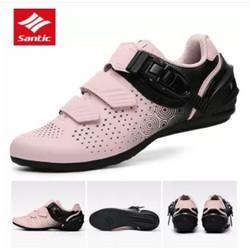 Sepatu Sepeda Santic Wanita Non Cleat Diana LS20014 - Merah Muda, 38