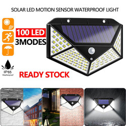 Lampu Taman 100 LED Solar Tenaga Surya Dengan Sensor Gerak