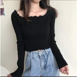 Willow Rajut LP Black [Baju Atasan Wanita 0133] TK0