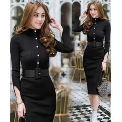 Dress Sophie Rajut Black [Dress 0133] TK0