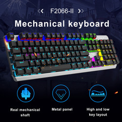Keyboard Gaming Mechanical AULA F-2066 II Blue Switch -RGB Rainbow LED