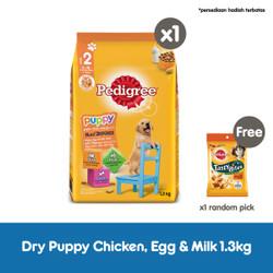 Pedigree Dry Puppy 1.3kg Makanan Anjing Kering rasa Chicken and Egg