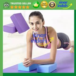 Balok Yoga/ Yoga Brick/ Yoga Balok/ Batok Yoga/ Yoga Block Pilates EVA - Merah Muda