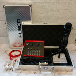 Paket Mic Condenser Fleco L8 - Microphone Youtuber Lengkap