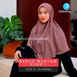 Jilbab Bergo Maryam Jumbo Hijab Instan Tali Size XL Bukan Renda
