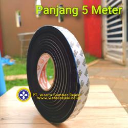 sticker hitam lis celah pintu kedap suara & debu ,sealing tape merk 3M