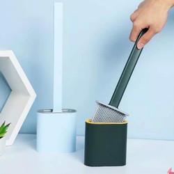 Brush toilet sikat wc silikon silicone elastic pembersih wc elastis