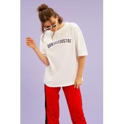 Oversized T-Shirt White - Mind Yourself