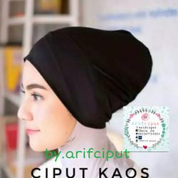 Ciput kaos Arab polos / inner kaos rayon - Putih