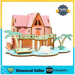Puzzle 3D Kayu Rumah SUMMER HOUSE - Mainan DIY Anak Dari Kayu   B-042