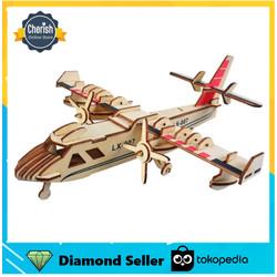Miniatur Pesawat Kayu AMPHIBIOUS BOMBER - Wooden Puzzle   B-004