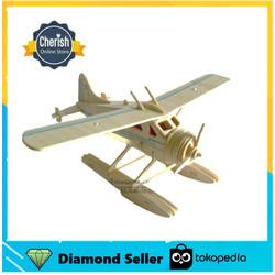 Pesawat Kayu Miniatur SEAL FIGHTER - Wooden Puzzle 3d   B-017