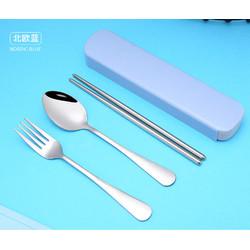 Sendok Garpu Sumpit set Stainless Steel Tebal Food Grade BOX