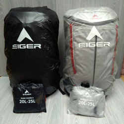 COVER BAG EIGER RAINCOVER TAS RAIN COVER 20-25L TRANSPARAN - ORIGINAL