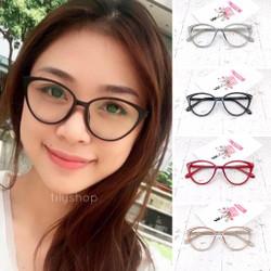 Paket Frame Kacamata Minus / Normal Anti Radiasi Cat Eye Zaneth 608