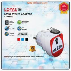 Loyal Steker Adaptor Colokan Listrik Adapter + Saklar LY-922SK SNI