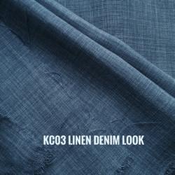KAIN LINEN DENIM LOOK BIRU JEANS 50X150 CM