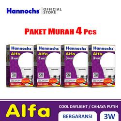 Hannochs Lampu LED Alfa 3 watt CDL 4 pcs - Putih