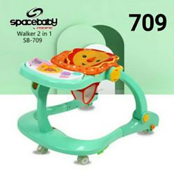 Baby Walker 2 in 1 Spacebaby SB 709