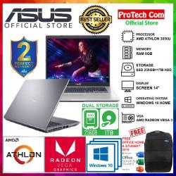 """LAPTOP ASUS M409DA - AMD ATHLON 3050U 8GB 256GB + 1TB VEGA 3 14"""" W10"""