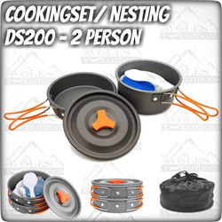 Cooking Set / Nesting DS 200 / Ultralight / 1-2 person - GAGANG MERAH