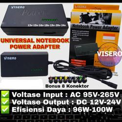 VISERO adaptor laptop POWER ADAPTER Charger Universal 12-24V 96W