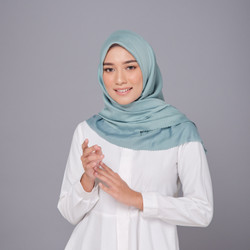Hijab Wanita Monza Plain Scarf Voal Laser Cut Diario