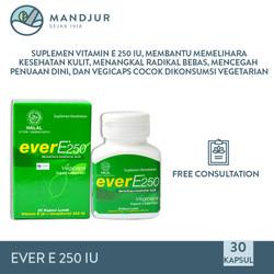 Ever E 250 IU 30 Kapsul - Suplemen Vitamin E untuk Kesehatan Kulit
