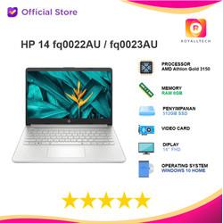 HP 14 fq0022AU fq0023AU - Athlon Gold 3150 8GB 512ssd W10 + OHS 14FHD
